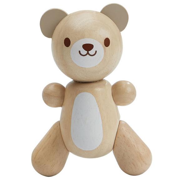 Μικρό αρκουδάκι, Plantoys, ξύλινο, οικολογικό, εκπαιδευτικό, παιχνίδι