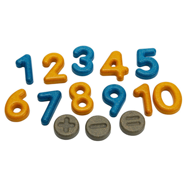 Αριθμοί και σύμβολα, Plantoys, ξύλινο, οικολογικό, εκπαιδευτικό, παιχνίδι