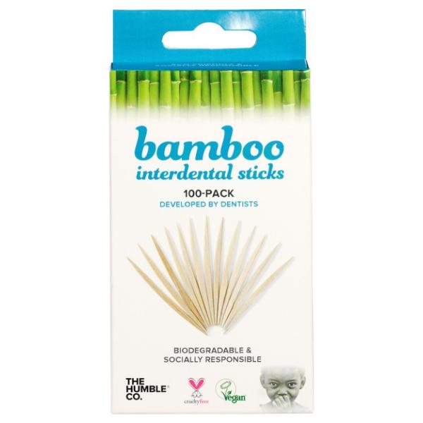 Βιολογικές Οδοντογλειφίδες Bamboo, 100 τεμάχια, The Humble
