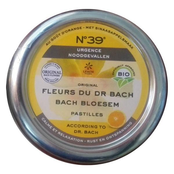 Βιολογικές Παστίλιες Ανθοϊάματα Bach, 50 γρ., Bio, No 39