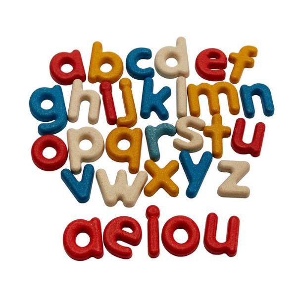 Αλφαβήτα με μικρά (αγγλικά), Plantoys, ξύλινο, οικολογικό, εκπαιδευτικό, παιχνίδι