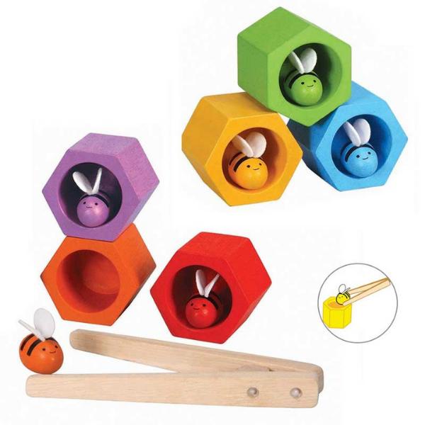 Κυψέλες, Plantoys, ξύλινο, οικολογικό, εκπαιδευτικό, παιχνίδι