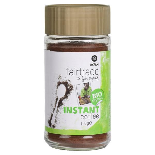 Βιολογικός Στιγμιαίος Καφές, 100 γρ., Bio, Oxfam Fair Trade