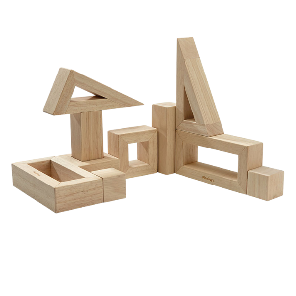 Τουβλάκια με κενό, Plantoys, ξύλινο, οικολογικό, εκπαιδευτικό, παιχνίδι