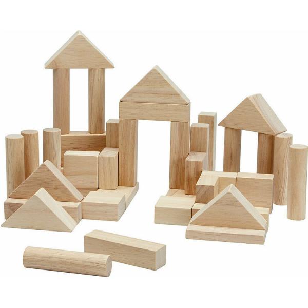 Τουβλάκια φυσικό χρώμα (40 τμχ), Plantoys, ξύλινο, οικολογικό, εκπαιδευτικό, παιχνίδι