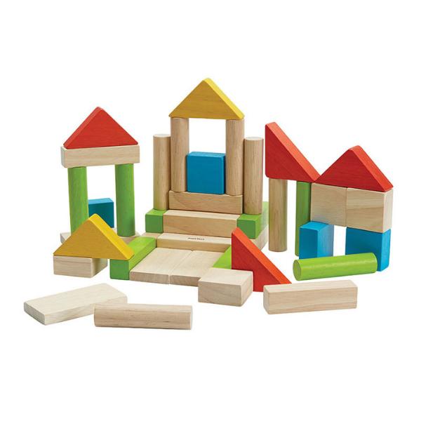Τουβλάκια χρωματιστά (40 τμχ), Plantoys, ξύλινο, οικολογικό, εκπαιδευτικό, παιχνίδι