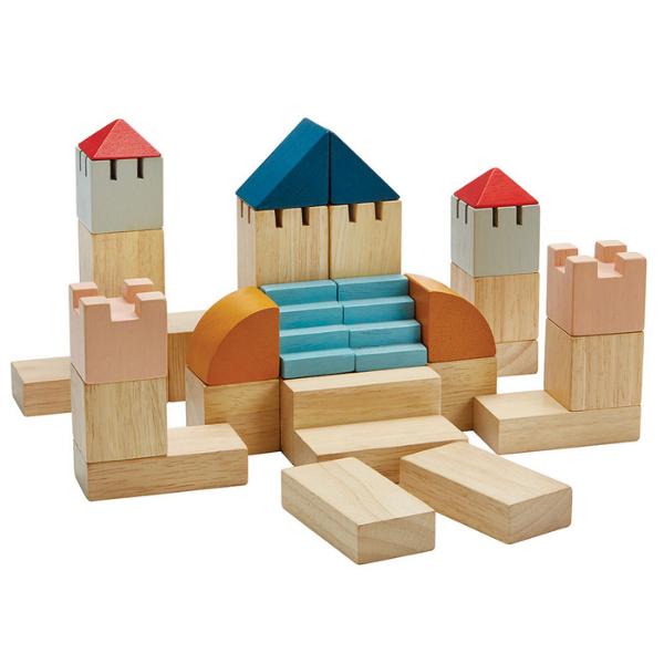Τουβλάκια χρωματιστά, Plantoys, ξύλινο, οικολογικό, εκπαιδευτικό, παιχνίδι