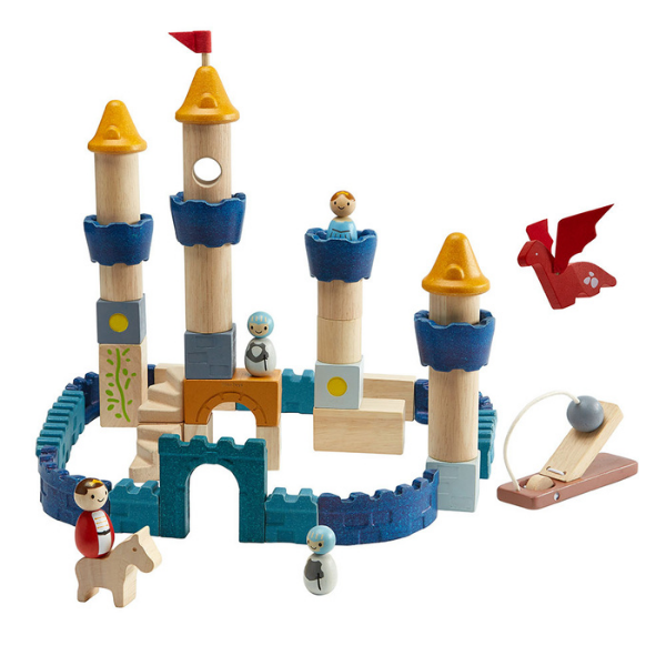 Κάστρο με δράκο, Plantoys, ξύλινο, οικολογικό, εκπαιδευτικό, παιχνίδι