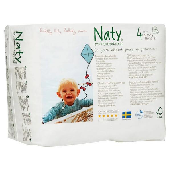 Πάνες Βρακάκι No 4, για 8-15kg, 22 τεμάχια, Naty