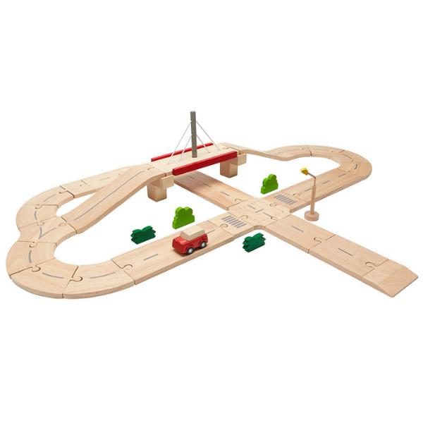 Οδικό σετ, Plantoys, ξύλινο, οικολογικό, εκπαιδευτικό, παιχνίδι