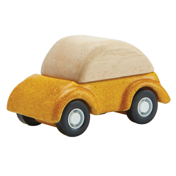 Αυτοκινητάκι, Plantoys, ξύλινο, οικολογικό, εκπαιδευτικό, παιχνίδι