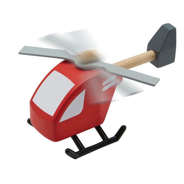 Ελικόπτερο, Plantoys, ξύλινο, οικολογικό, εκπαιδευτικό, παιχνίδι