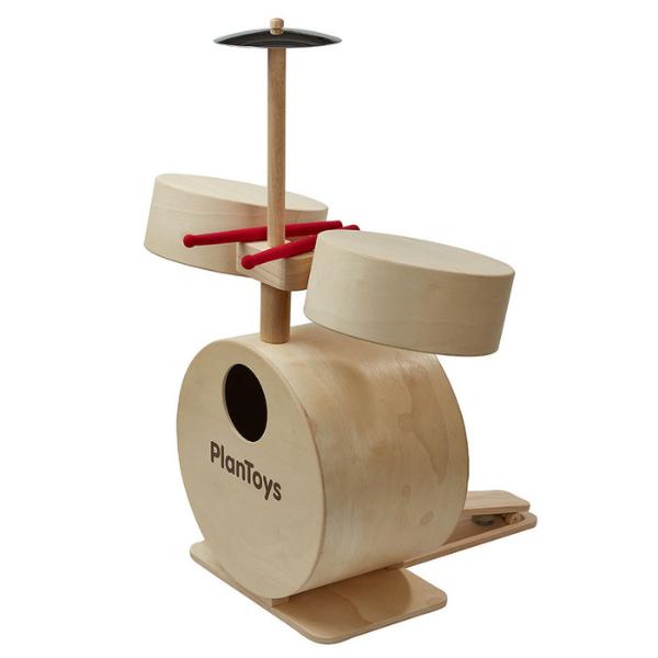 Ντραμς, Plantoys, ξύλινο, οικολογικό, εκπαιδευτικό, παιχνίδι