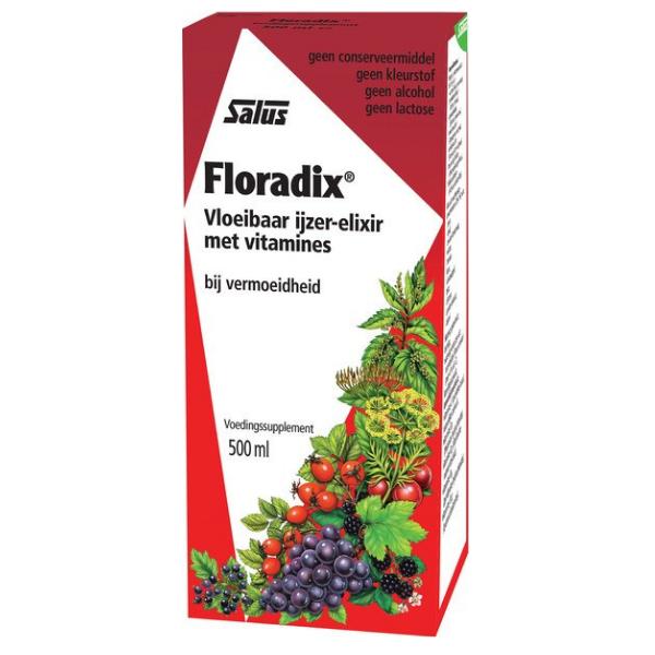 Floradix Ελιξήριο Σιδήρου, 500 ml, Salus