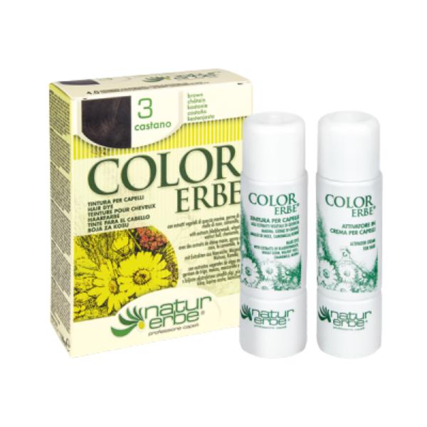 Βαφή μαλλιών, Νο3, καστανό, color erbe, Natur Erbe