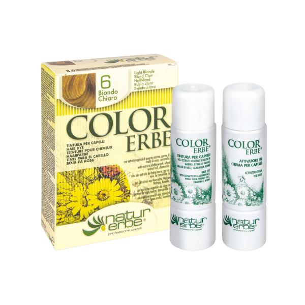 Βαφή μαλλιών, Νο6, Ξανθό ανοιχτό, color erbe, Natur Erbe