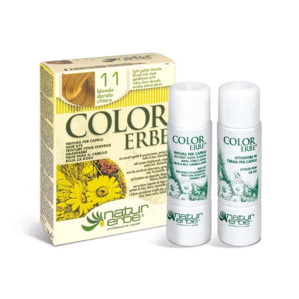 Βαφή μαλλιών, Νο11, Ξανθό- χρυσαφί ανοιχτό, color erbe, Natur erbe