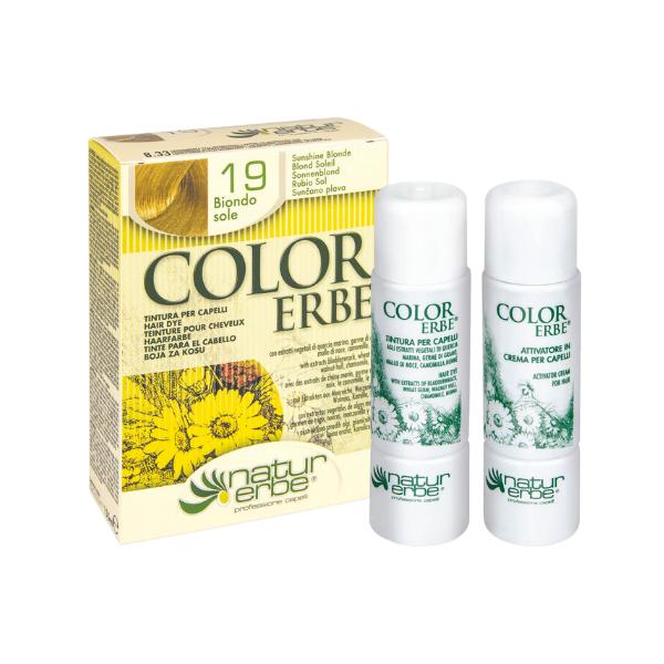 Βαφή μαλλιών, Νο19, ξανθό ήλιου, color erbe, Natur erbe
