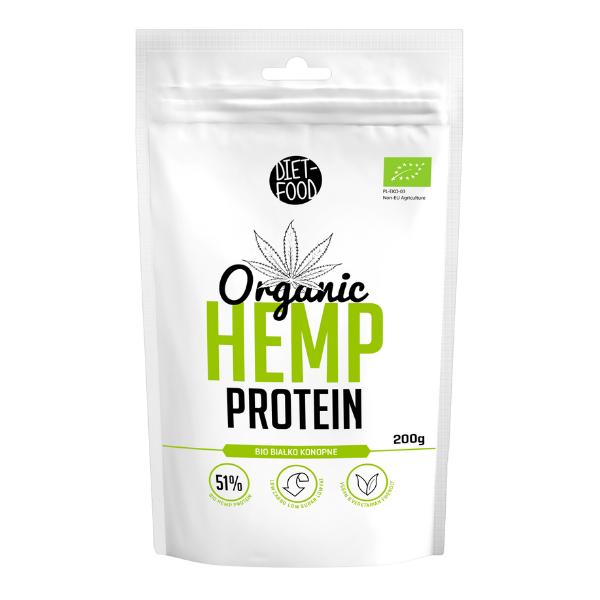 Βιολογική Πρωτεΐνη Κάνναβης, 200 γρ., Bio, Diet Food