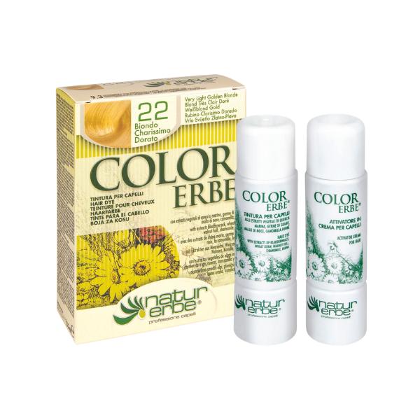 Βαφή μαλλιών, Νο22, πολύ ανοιχτό ξανθό-χρυσαφί,colorerbe, Natur erbe