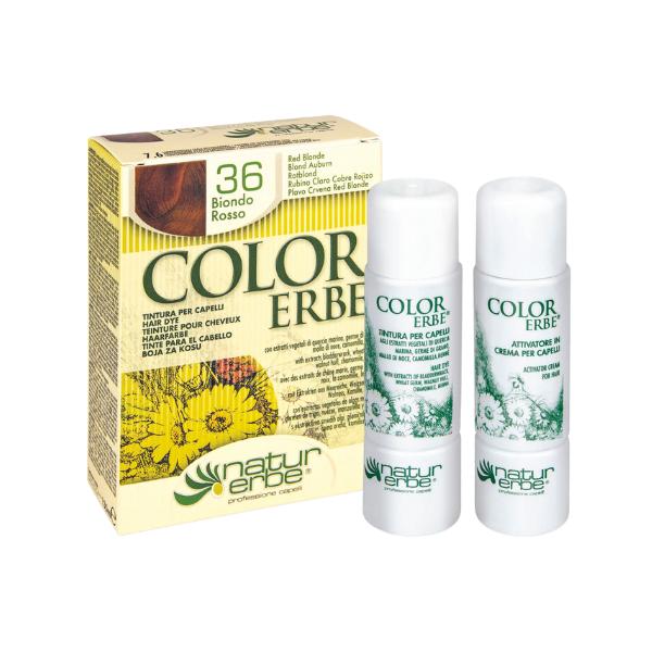 Βαφή μαλλιών, Νο36, ξανθοκόκκινο, color erbe, Natur erbe