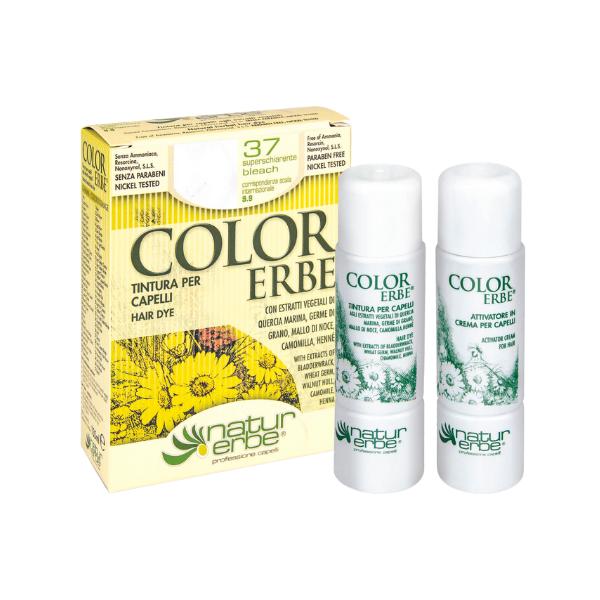 Βαφή μαλλιών, Νο37, υπερξανθυντικό, color erbe, Natur erbe