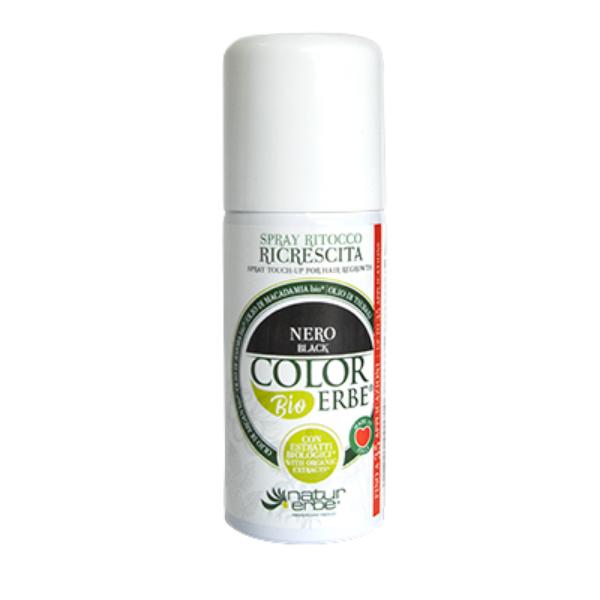 Βαφή μαλλιών σε σπρέι-Μαύρο, color erbe, Natur erbe