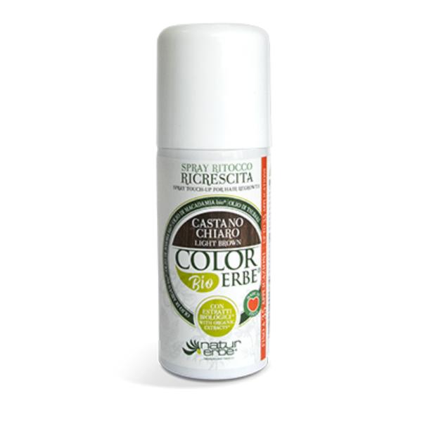 Βαφή μαλλιών σε σπρέι-Καστανό ανοιχτό, color erbe, Natur erbe