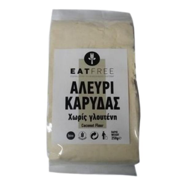 Βιολογικό Αλεύρι Καρύδας, 250 γρ., Bio, Eat Free