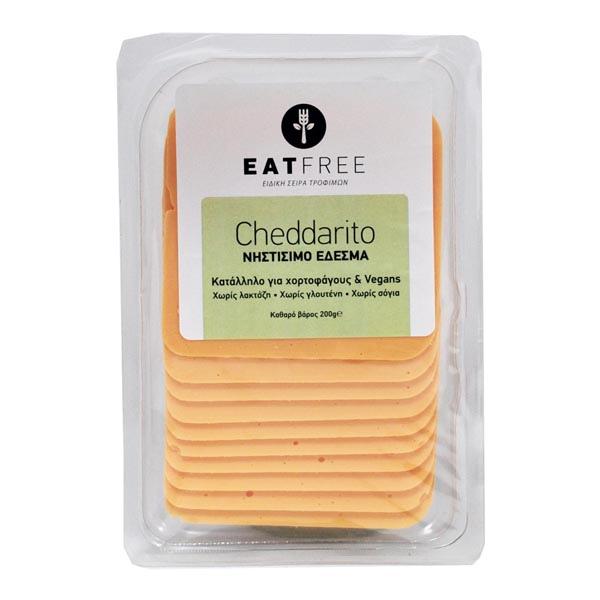 Φυτικό Έδεσμα Cheddarito σε Φέτες, 200 γρ., Eat Free