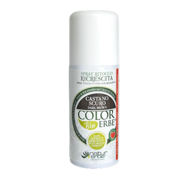 Βαφή μαλλιών σε σπρέι-Καστανό σκούρο, 100ml, color erbe, Natur erbe